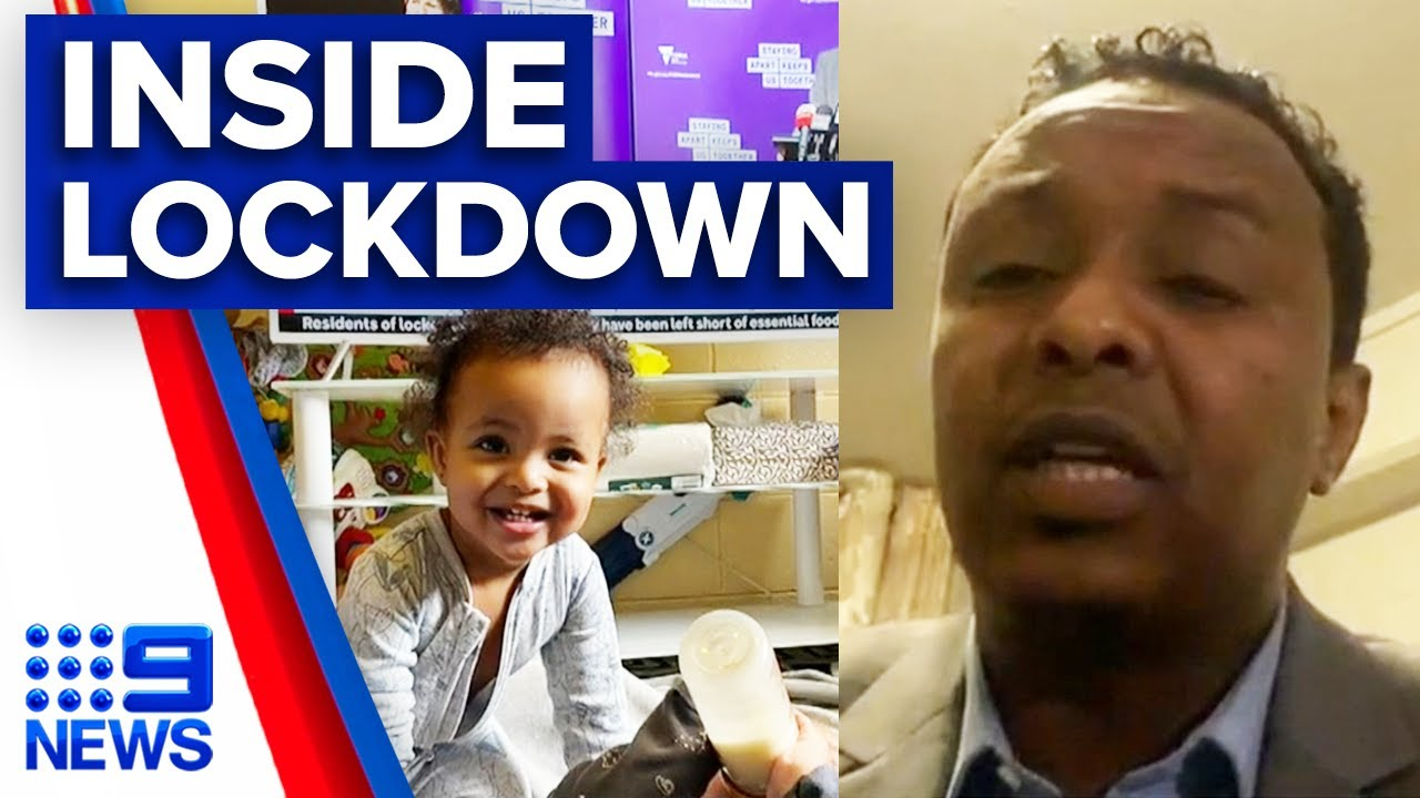 Inside Melbourne's tower lockdown: Father-of-four reveals how families are coping | 9 News Australia