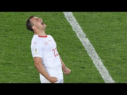 AFP news agency: PHOTOS: Shaqiri seals Swiss win over Serbia