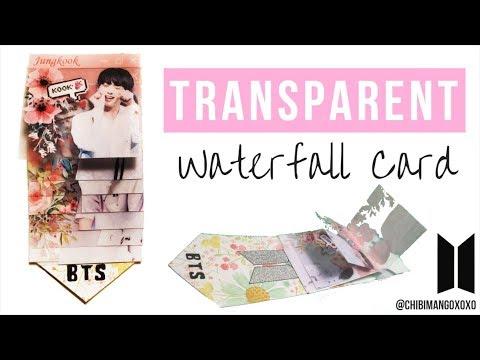 BTS Transparent Waterfall Card TUTORIAL