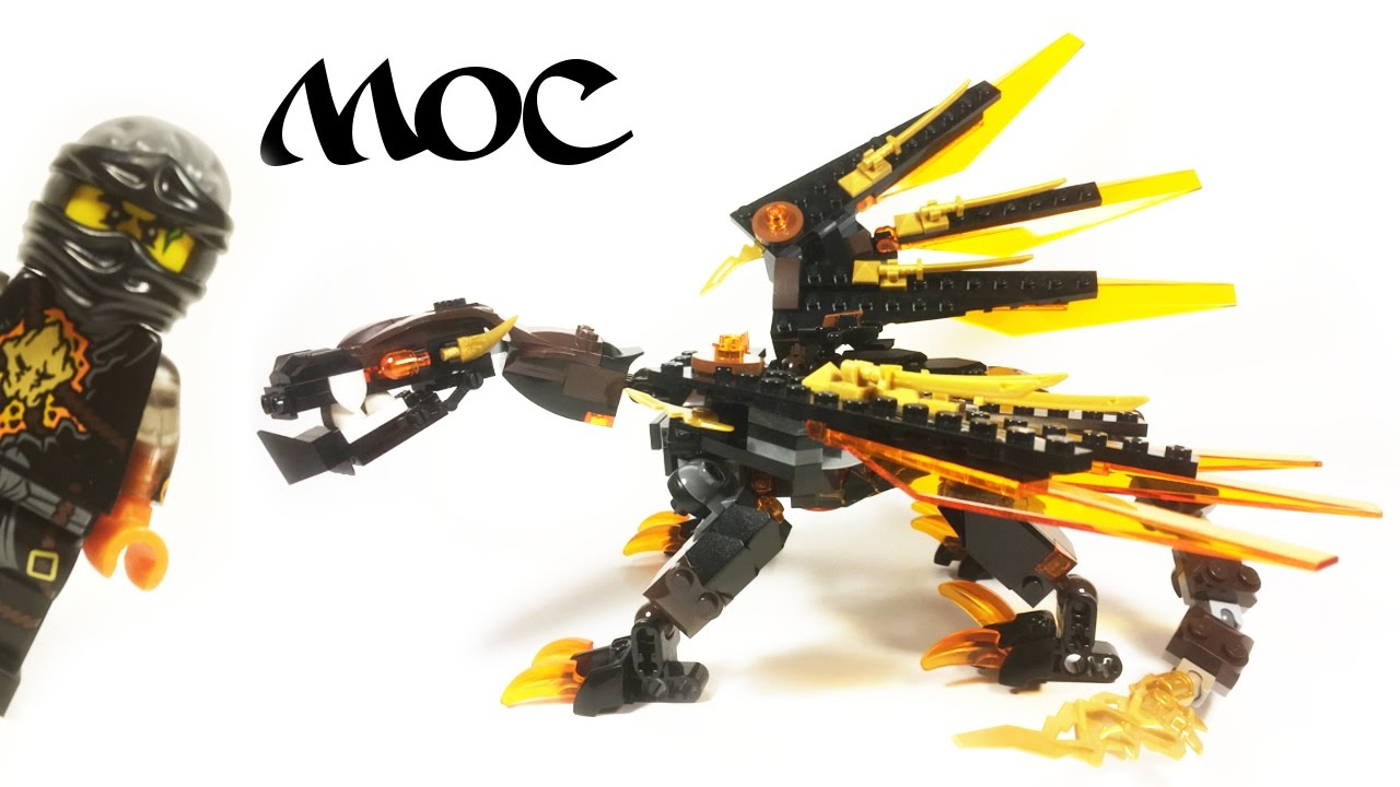 lego coles elemental dragon moc ninjago custom build