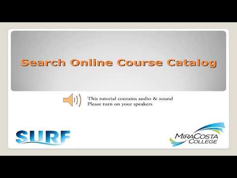 Search Online Course Catalog