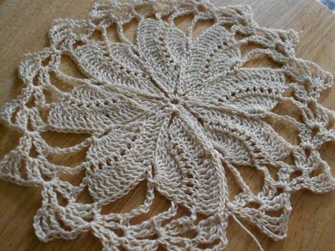Tejido circular de 8 abanicos crochet - YouTube