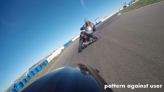 pattern against user - track day 03 - fast bike vs fast rider
