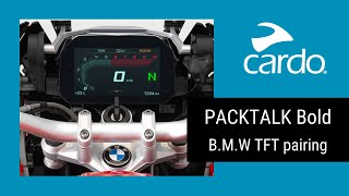 PACKTALK bold Pairing Tutorial- BMW's TFT