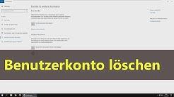 [Windows 10] Benutzerkonto löschen
