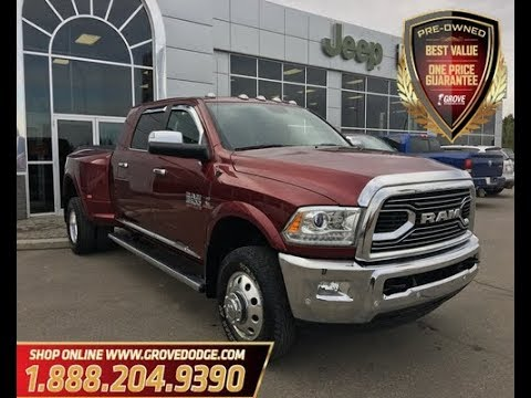 2017 Dodge 3500 >> 2017 Dodge Ram 3500 Mega Cab Dually Leather Low Km Sunroof Grove Dodge