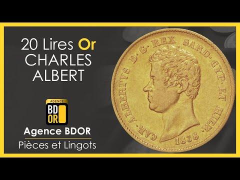 20 Lires Or Charles-Albert - Pièce Or Union Latine Sardaigne -BDOR