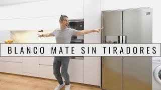 Cocina blanca MATE SIN TIRADORES  CJR