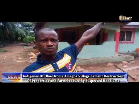 Amagba indigenes lament destruction of properties by suspected hoodlums