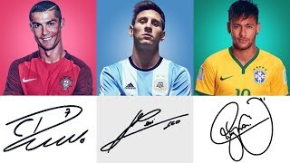 Autographs of The Best Football Players