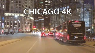 Chicago 4k - Night Drive