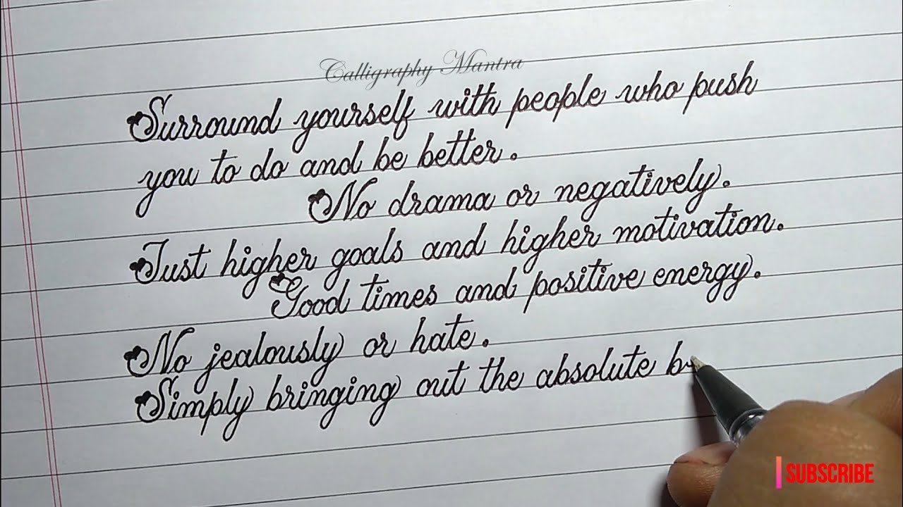 Beautiful Handwriting With Ball Pen | Neat And Clean Writing |