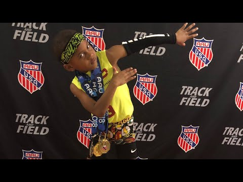 Maurice Pope lll 4 year old track and field | youth sports