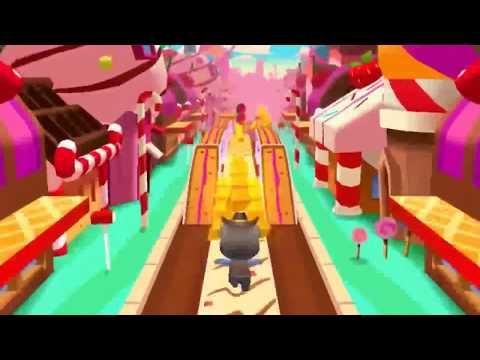 talking Tom Cat Cartoon video gold game for children  Game 2017 cartoon run