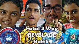 BEYBLADE FATAL FOUR WAY BATTLE IN DESI STYLE