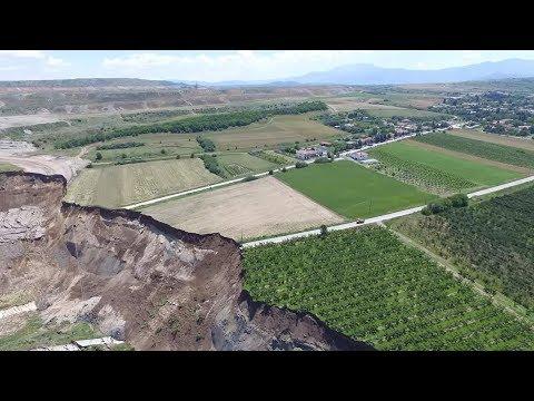 Lignite mine landslide, Anargyroi, , Greek village evacuated after mine collapses, Amyntaio