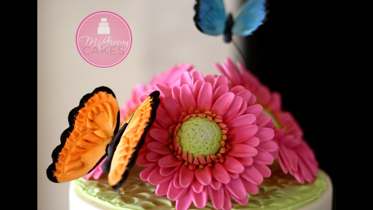 To Make a Gumpaste Gerber Daisy; A McGreevy Cakes Tutorial - YouTube