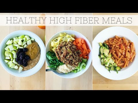 HIGH FIBER DIET | Full Day Of Eating Plant-Based Meals