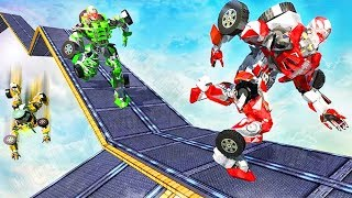 Impossible Car Parking Tracks Transform Robot Game - Android Gameplay FHD - Kids Transformer Games