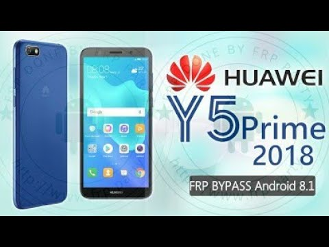 Huawei Y5 Prime 2018 frp bypass dra-lx2 android 8 1