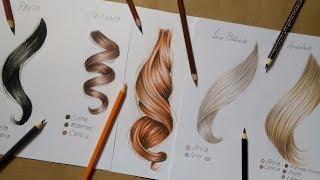 Como desenhar cabelo e quais cores utilizar ( 6 Tipos)