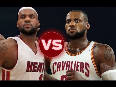 The 2012 Miami Heat VS The 2016 Cleveland Cavaliers | NBA 2K17 Challenge