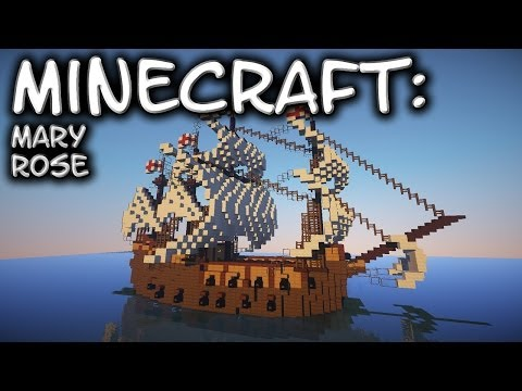 Minecraft: Large Carrack Tutorial (Mary Rose)