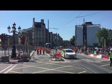 The Luas crosses O'Connell Bridge on new Cross City line