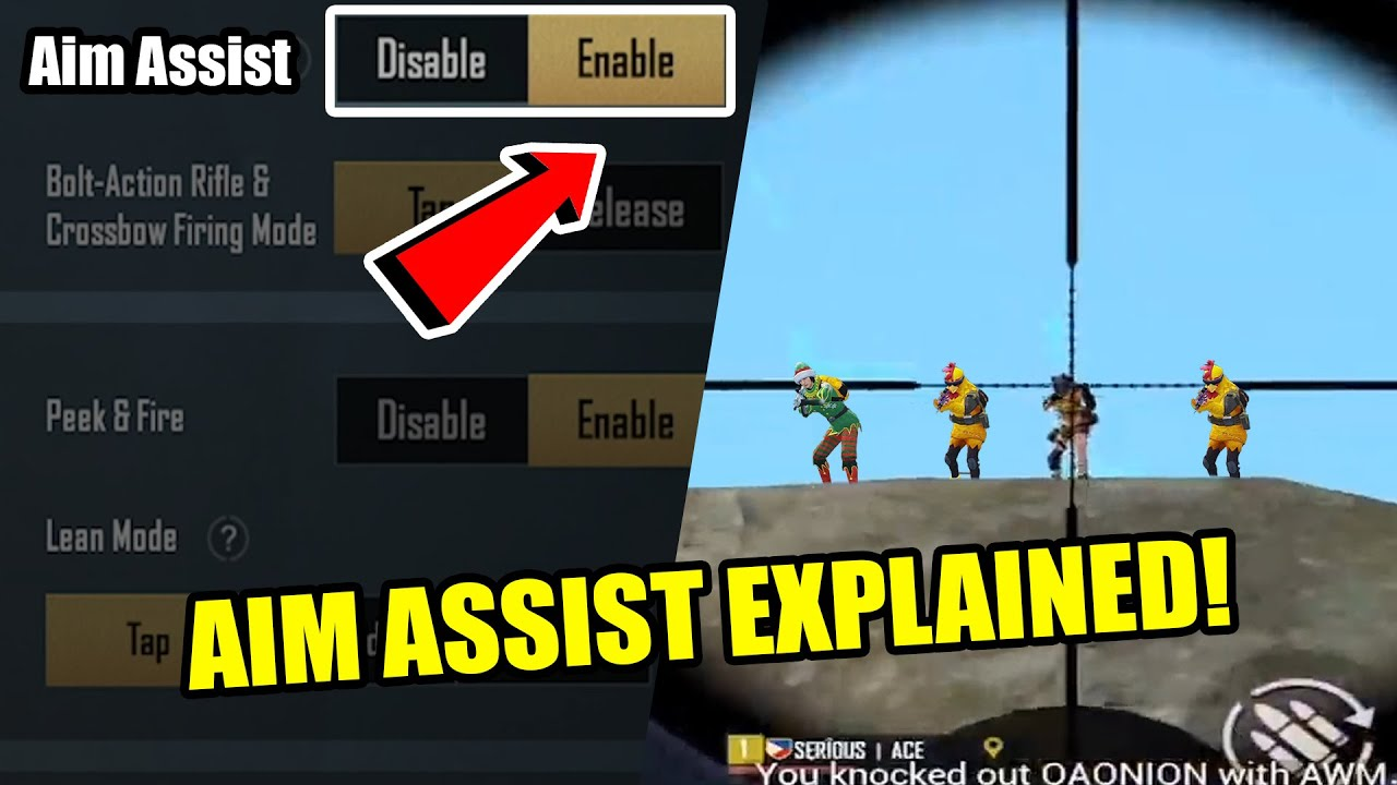 HOW DOES AIM ASSIST WORK?   HERE IS HOW   PUBG Mobile GUIDE by 4ceLawrence  - YouTube