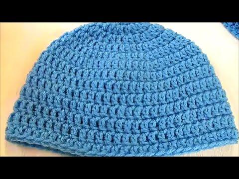 Basic Double Crochet Beanie - YouTube 6f24b204c3c