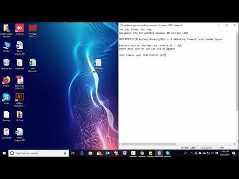Wallpaper Gpo Not Working On Windows 10 Youtube