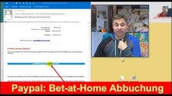 Paypal Bestätigung Ihrer Zahlung an bet-at-home.com
