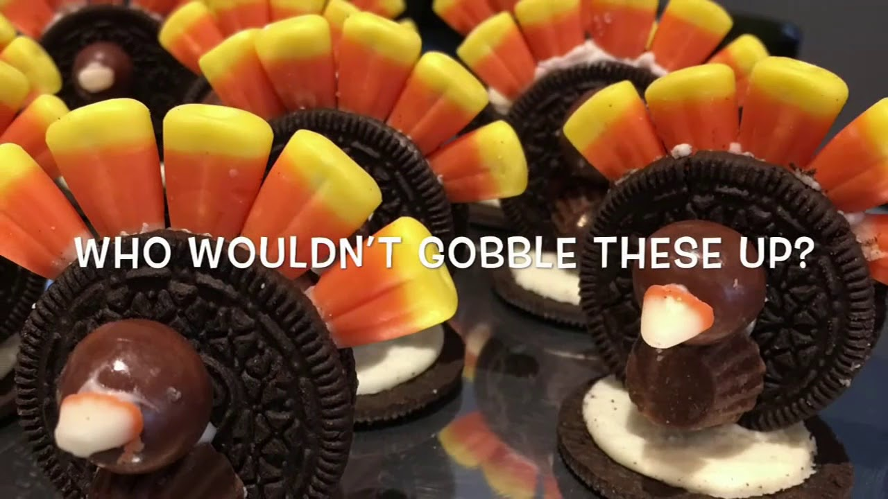 check out this easy way to use halloween candy for thanksgiving