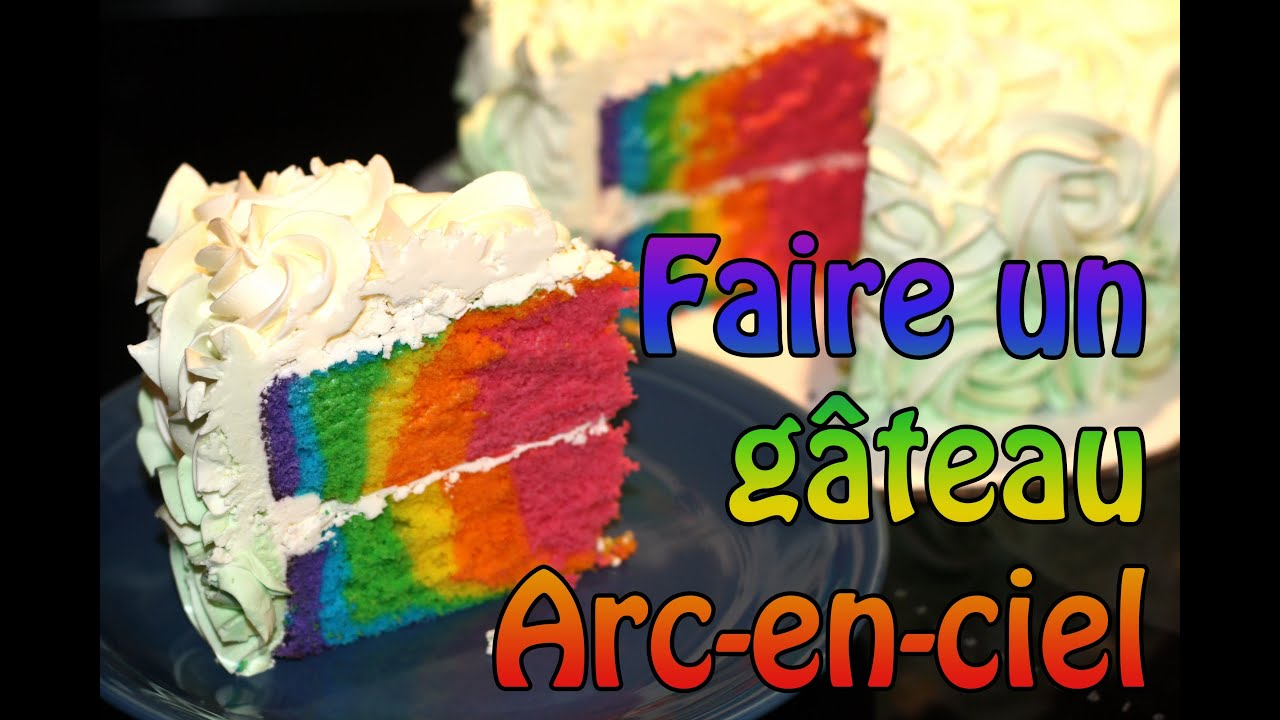 howto faire un g teau arc en ciel rainbow cake youtube. Black Bedroom Furniture Sets. Home Design Ideas