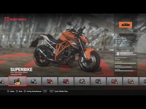 Unlocking The New KTM. Driveclub Bikes