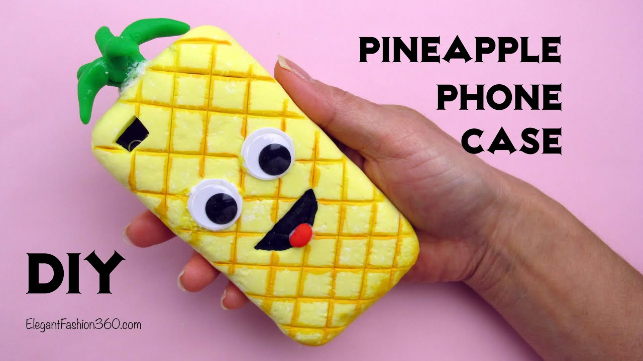 new york 30a7d d5cb0 DIY: How to Make Pineapple phone Case Tutorial by Elegant Fashion 360