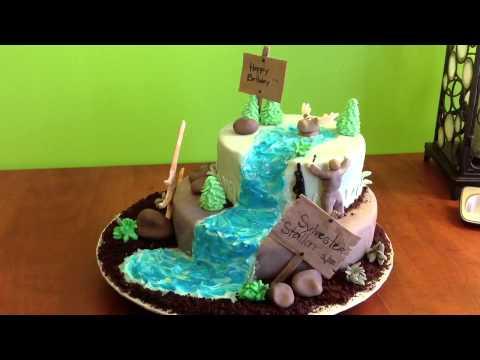 Hunting cake motif