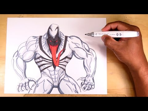 Aprende a dibujar y pintar facil a Anti-Venom