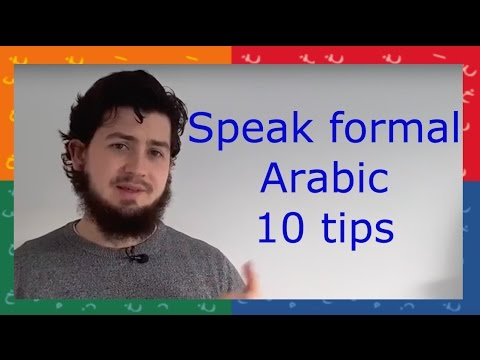 10 WAYS  to make your Arabic more formal for GCSE Arabic!