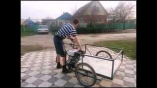 Грузовой велосипед с мотором.(Подписывайтесь в группу ВК: http://vk.com/club104067265 Если вы хотите реально зарабатывать на ютубе, то вам сюда: http://joi..., 2015-03-23T05:10:40.000Z)