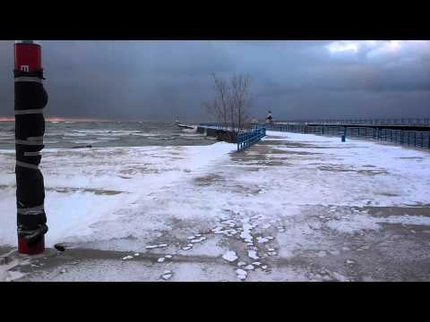 Early winter weather at Saint Joseph pier