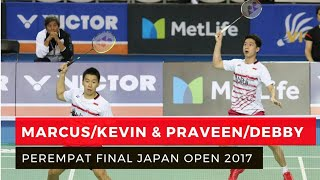 Download Video Marcus/Kevin Susul Praven/ Debby Masuk Perempat Final Japan Open 2017 MP3 3GP MP4