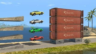 Beamng drive - Risky and Coordinated Car Jumps