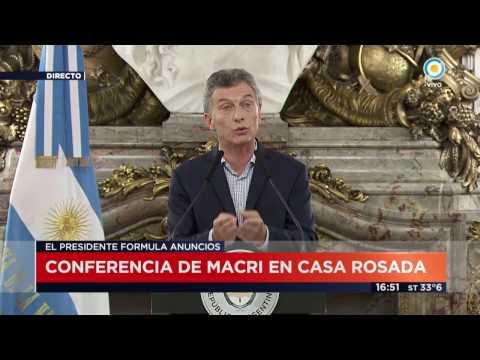TV Pública Noticias - Conferencia completa de Mauricio Macri en Casa Rosada