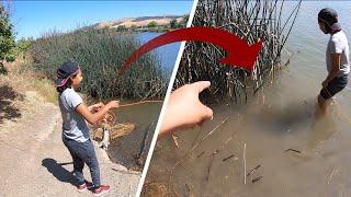 MI PRIMER PESCA MAGNÉTICA, en un lago de California