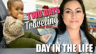 TWO DAYS OF TRAVELING WITH A TODDLER | EXCITING NEWS! | DITL VLOG