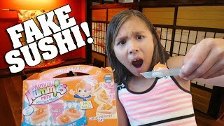 EATING FAKE SUSHI!!! Yummy Nummies Candy Surprise Maker