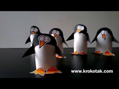 הכנת פינגווינים מנייר טואלט