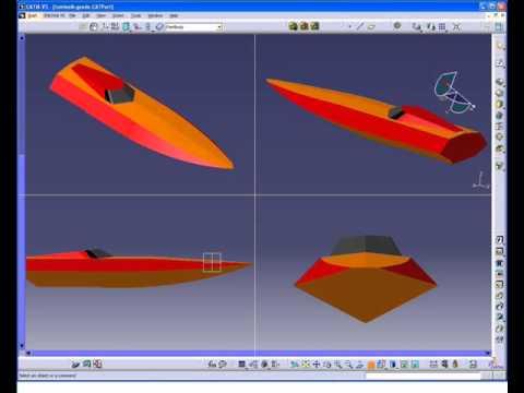 RASH V1: homemade Mono rc boat design by catia v5 suface - YouTube
