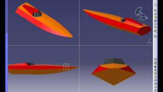 Rash V1: Homemade Mono Rc Boat Design By Catia V5 Suface